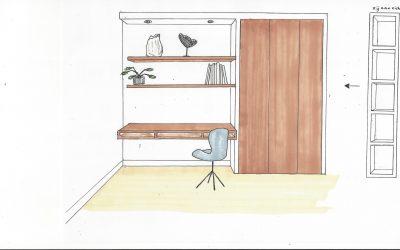 Woonkamer op de eerste verdieping, Haren