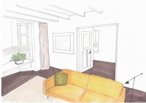 Interieurplan woonkamer Zuidhorn