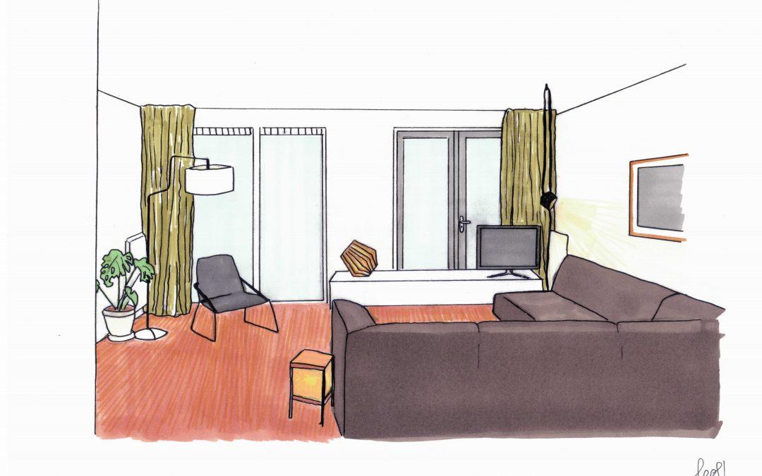 Lichtplan woonkamer Reitdiep | LEEF! interieuradvies